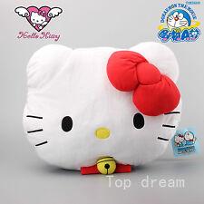 New Sanrio Hello Kitty Doraemon Head Plush Pillow Soft Toy Cushion 15.8'' Cute