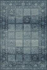 "8x10 Blue Grid Blocks Squares Checked Area Rug Dalyn BC1544 - Aprx 8' 2"" x 10'"
