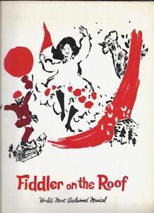 "Jan Peerce   ""Fiddler on the Roof""  Souvenir Program  1977  TOUR   Leila Martin"