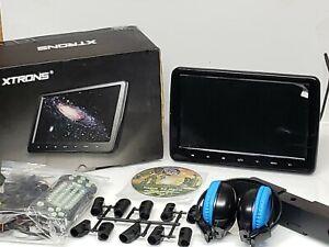 "US XTRONS 10.1"" HD TFT Screen Car Headrest Pillow monitor DVD Player USB HDMI"