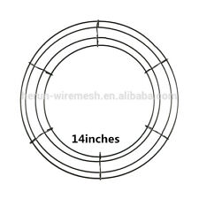 "14"" Lot of 1 Round Metal Wreath Frame Ring DIY Macrame Floral Crafts Wire Form"