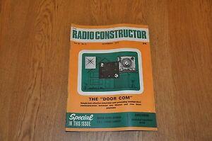 The Radio Constructor Magazine November 1970 Volume 24 Number 4