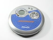 Philips Portable Cd Player Jogproof Anti-Skip Ax3311/17 Blue & Silver Tested