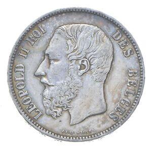 1873 Belgium 5 Francs - SILVER *472