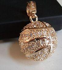 Gold Finish  Hip Hop Bling Rapper Style Fashion Basket Ball Pendant
