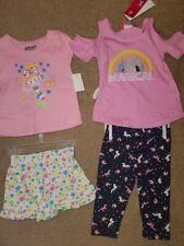 Baby Girl Summer Outfits Clothes Size 12 Months Nwt 2 Outfits Mermaid / Unicorn
