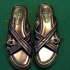 Comfy casual Cole Haan G Series Bronze Gunmetal brown sandals shoes Sz 6.5