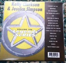 LEGENDS KARAOKE CDG KELLY CLARKSON & JESSICA SIMPSON #196 POP 17 SONGS CD+G