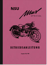 NSU MAX spécial Manuel d'utilisation manuel guide MOTO Manual