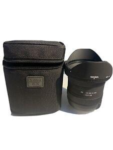 Sigma EX 10-20mm f/3.5 HSM EX DC Lens For Nikon w/case hood filter EXCELLENT