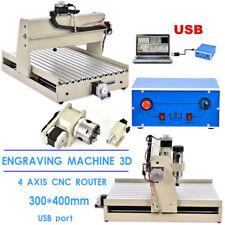 USB 4 ASSI CNC 3040 MACCHINA PER INCISIONI LAVORAZIONE FORATURA CUTTER 320*530mm