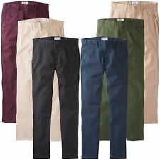 Charles Wilson Men's Casual Regular Straight Fit Stretch Chino Trousers New 2016