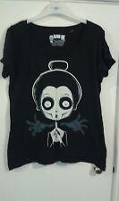 Akumi Encre Noir Graphique T Shirt Taille XXL