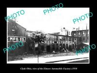 OLD LARGE HISTORIC PHOTO OF CLYDE OHIO THE ELMORE AUTOMOBILE FACTORY c1910