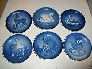 Royal Copenhagen Blue/White Bing & Grondahl Mothers Day Plate 1970-79, Set of 6
