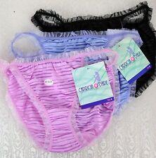 Capricia Pink blue black String bikini Ruffled frilly stretch sissy panties S M
