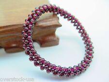 J.Lee Natural Rose Tourmaline Bead Bracelet - elastic thread