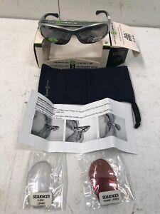 Optic Nerve Sequencer 3 Interchangeable Lenses  Lightweight Sunglasses, Silver