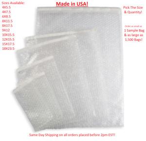 Bubble Out Bags Protective Wrap Pouches 4x5.5 4x7.5 6x8.5 8x11.5 9x12 12x15.5