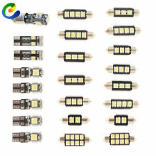 23Pc LED Bulb White Car Light Inside Reverse Light Dome License Plate Lamp Error
