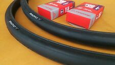 NEW Pair 700x25c VIPER Thick-slick Tires & Tubes Commuter Fixie Road 30TPI