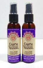 Lot Of 2 Guru Nanda Essential Oil True Lavender Body & Room Spray (2oz) *NEW*