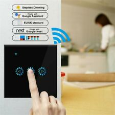 WiFi Smart Light Dimmer Switch Touch Wall Remote Control Light Work Alexa
