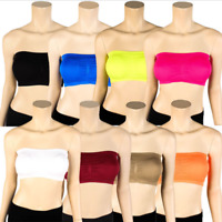 Hot Womens Strapless Padded Bra Bandeau Tube Top Removable Pads Seamless Crop