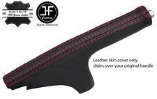 Puntada de grano superior de cuero delgada Rojo Polaina de freno de mano se adapta a 350Z Z33 2002-2009