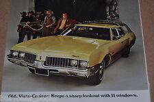1969 Oldsmobile advertisement, Olds VISTA CRUISER station wagon, western movie