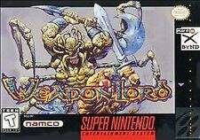 WEAPONLORD SNES SUPER NINTENDO GAME COSMETIC WEAR