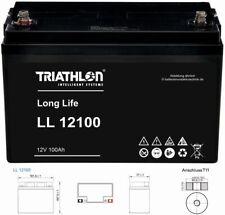 12V 100Ah TRIATHLON AGM Longlifebatterie