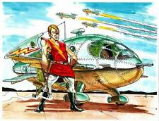 FLASH GORDON CLASSIC - Science Fiction original art by Mahlon Fawcett