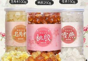 Peach gum snow lotus seed Dried tree gum 桃胶+雪燕+皂角米组合装500g桃膠天然野生食用Health Food