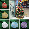 Christmas Rhinestone Glitter Baubles Balls Xmas Tree Ornament Decoration 8CM YH