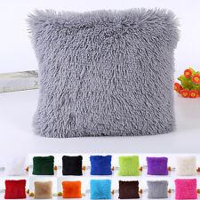 Throw Home Decor Fur Fluffy Sofa Pillow Case Soft Plush Luxury Cushion Covers