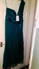 BNWT Womens Green Silk Monsoon Asymmetrical Gown. Size 18.