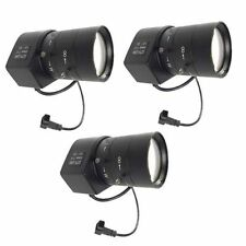 3pcs 6~60mm F1.6 Dc Cctv Security Camera Wide Angle Vari-Focal Manual Zoom Lens