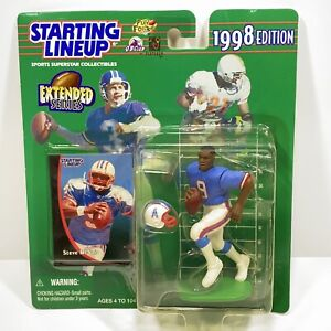1998 STEVE MCNAIR Houston Oilers / Tennessee Titans Starting Lineup Extended