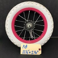 "12"" Rear Magenta Bicycle Wheel w/ Coaster Brake 12 1/2"" X 2 1/4"" Tire Bike #k8"