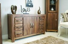 Dark Wood Tone Contemporary Sideboards with Doors