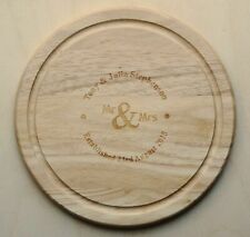 Personalised Chopping / Cheese Board Wedding gift, Mothers day, laser engraved