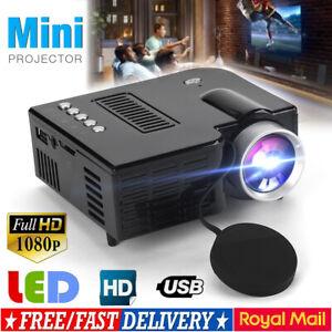 HD 1080P Portable Home Cinema Projectors Mini LED Movie Video Theater Multimedia