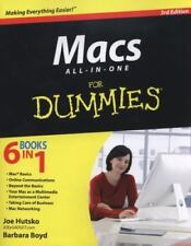 Macs All-in-One For Dummies, Boyd, Barbara, Hutsko, Joe, Good Condition, Book