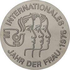 DDR 5 Mark Internationales Jahr der Frau 1975 Stempelglanz Münze in Münzkapsel