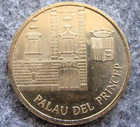 ANDORRA 1997 10 CENTIMS, PRINCE'S PALACE AND ARMS, UNC