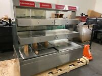 HARDT In-Line ZONE-6 Hot Case 3 Tier Chicken Warmer Good Working Condition