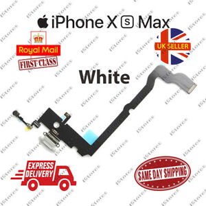 New iPhone XS Max Charging Port Flex Headphone Jack Mic Replacement White