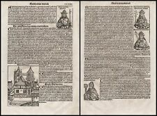 Schedel Liber Chronicarum Celestines Cölestiner Inkunabel Incunable CCXIX 1493