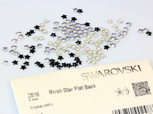 10 X Genuine SWAROVSKI 2816 Rivoli Star Flat Back Crystals 5mm * All Colors